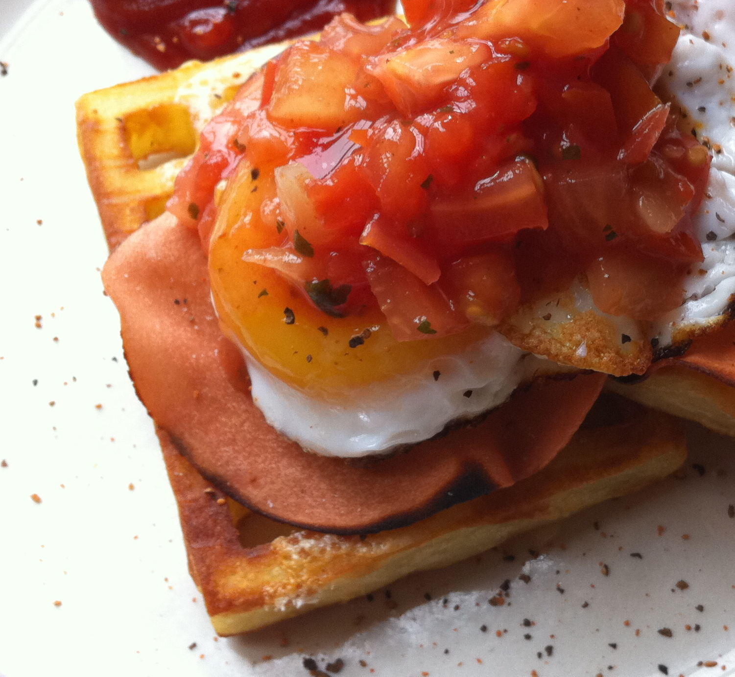 Fried Egg on Potato Waffle | Polka Dot Kitchen